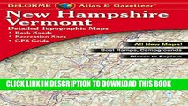 Collection Book Delorme New Hampshire Vermont Atlas   Gazetteer (Delorme Atlas   Gazetteer)