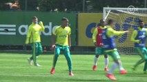 Sem moleza! Gabriel Jesus treina firme em retorno ao Palmeiras