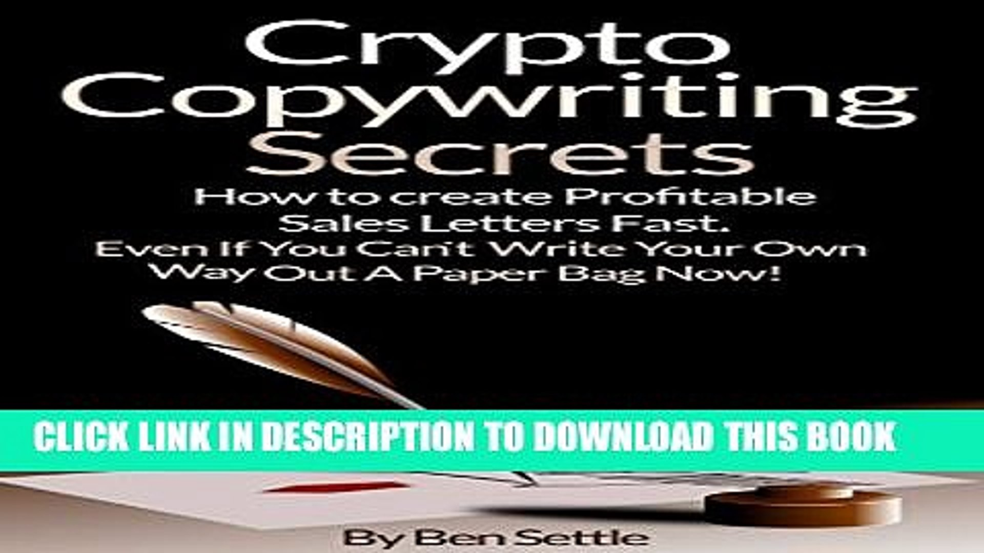 Collection Book Crypto Copywriting Secrets - How to create profitable sales letters fast - even if