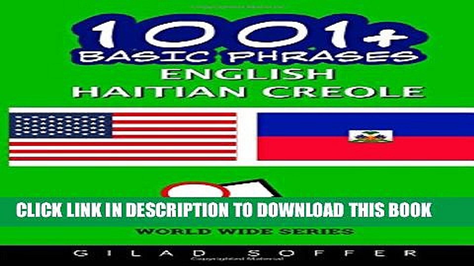 1001+ Basic Phrases English - Haitian Creole