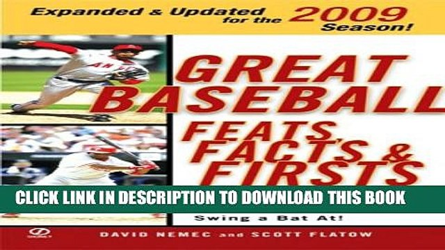 New Book Great Baseball Feats, Facts, and Firsts (2009 Edition) (Great Baseball Feats, Facts