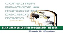 New Book Consumer Behavior and Managerial Decision Making (2nd Edition)