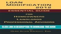 Collection Book Loan Modification 2012: Essential Guide for Homeowners Landlords Professional