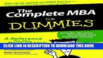 New Book The Complete MBA For Dummies