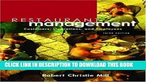New Book Restaurant Management: Customers, Operations, and Employees (3rd Edition)