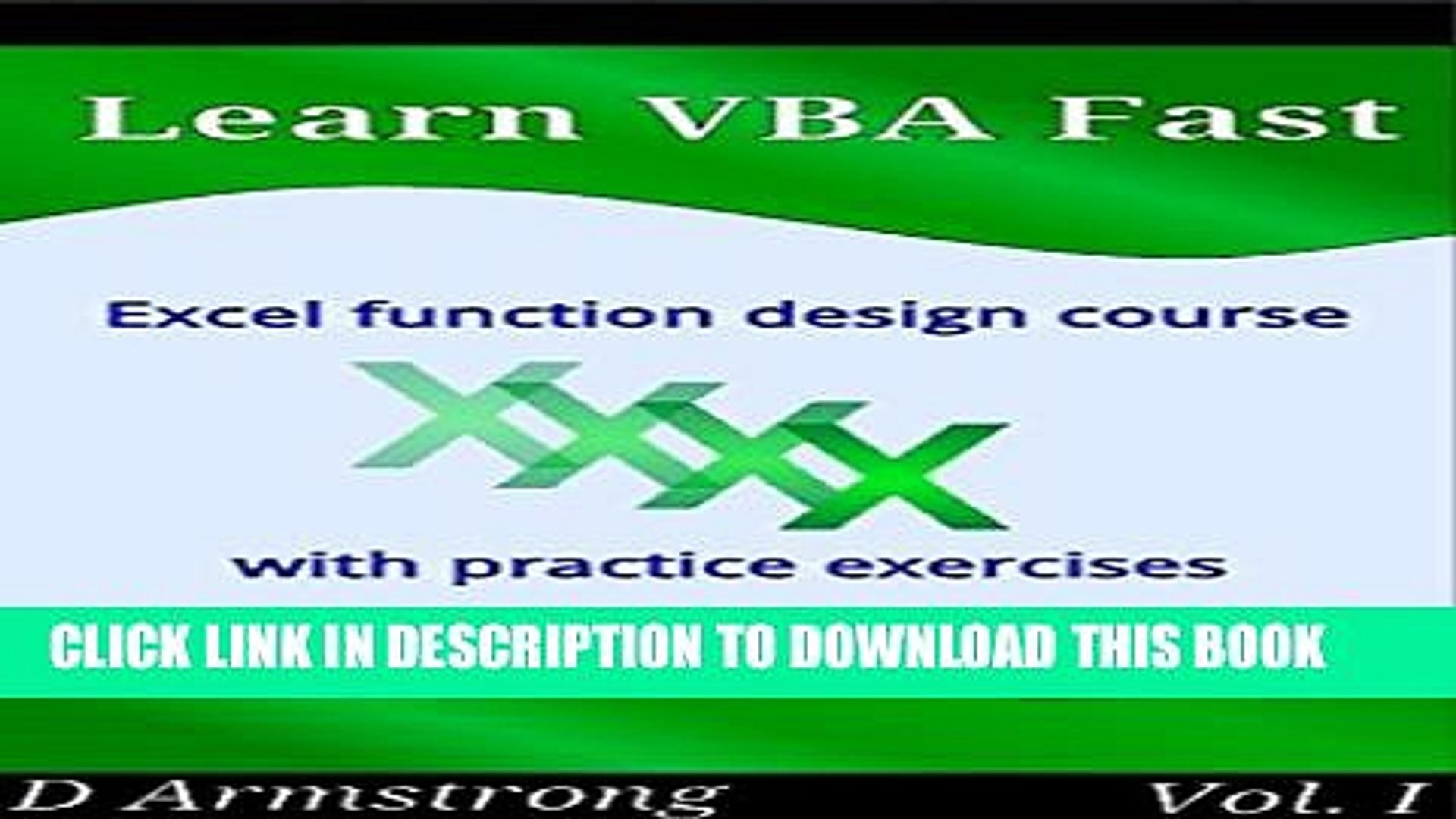 [PDF] Learn VBA Fast, Vol  I: Excel function design course, with practice  exercises (The VBA