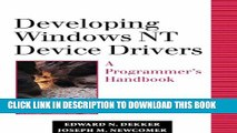 Collection Book Developing Windows NT Device Drivers: A Programmer s Handbook
