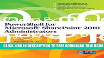Collection Book PowerShell for Microsoft SharePoint 2010 Administrators