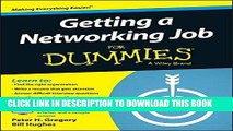 New Book Getting a Networking Job For Dummies (For Dummies (Computers))
