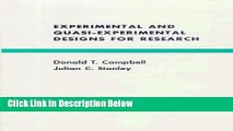 [Get] Experimental and Quasi-Experimental Designs for Research Online New