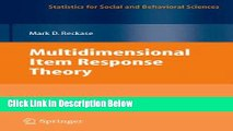 [Get] Multidimensional Item Response Theory (Statistics for Social and Behavioral Sciences) Online