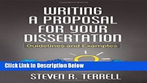 [Get] Writing a Proposal for Your Dissertation: Guidelines and Examples Online New