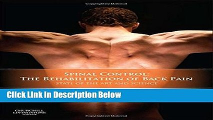 [Fresh] Spinal Control: The Rehabilitation of Back Pain: State of the art and science, 1e Online