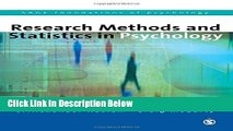 [Best] Research Methods and Statistics in Psychology (SAGE Foundations of Psychology series)
