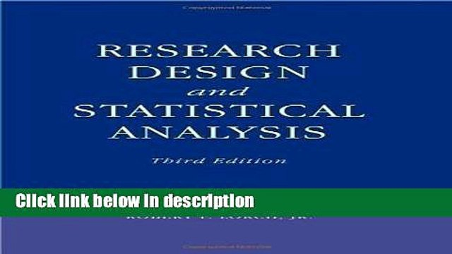 [Get] Research Design and Statistical Analysis: Third Edition 3rd (third) Edition by Myers, Jerome