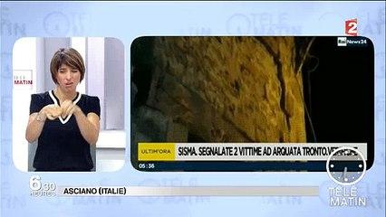 Italie - Tremblement de terre cette nuit de 6,2