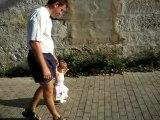 progrès.. en balade avec papa