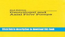 Stepanoff Centrifugal And Axial Flow Pumps Ebook