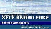 [Get] Handbook of Self-Knowledge Online New