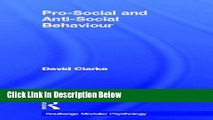 Pro-Social and Anti-Social Behaviour (Routledge Modular Psychology)