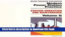 Read Station Operation and Maintenance, Volume Volume G, Third Edition (British Electricity