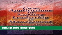 [Get] Case Applications in Nursing Leadership and Management Online New
