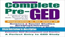 [Get] Contemporary s Complete Pre-GED : A Comprehensive Review of the Skills Necessary for GED