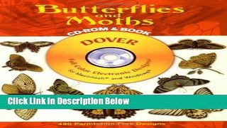 Best Seller Butterflies and Moths CD ROM and Book Dover Ele