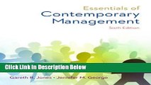 [Reads] Essentials of Contemporary Management Free Books