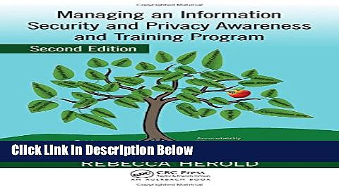 [Reads] Managing an Information Security and Privacy Awareness and Training Program, Second