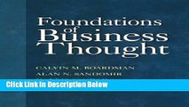 [Reads] Foundations of Business Thought Online Ebook