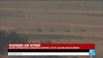 """Guerre en SYRIE - Opération """"Bouclier de l'Euphrate"""" contre l'EI : Les chars turcs sont entrés en Syrie"""