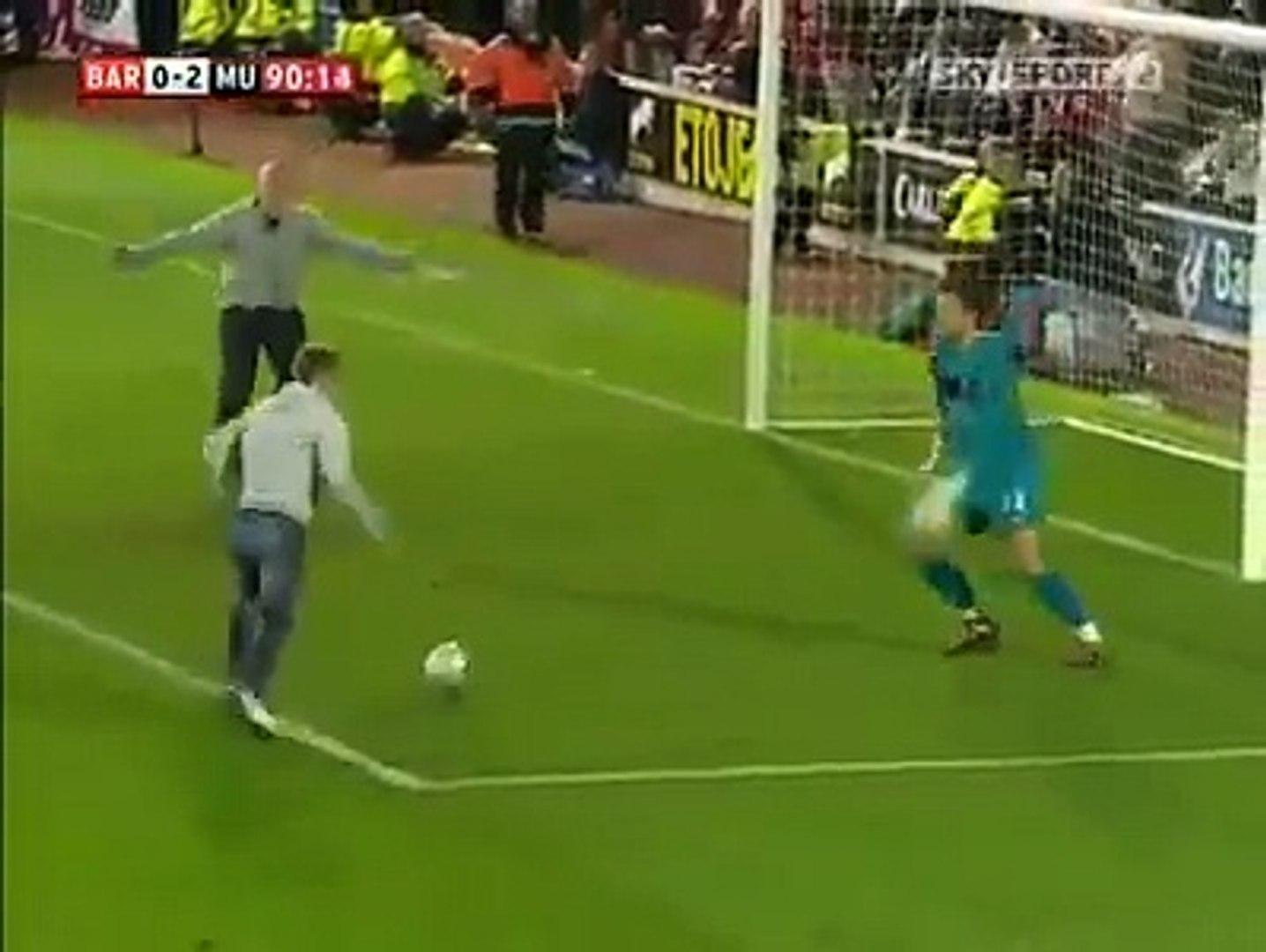 Barnsley Fans Score Against Manchester United