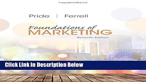 [Fresh] Foundations of Marketing New Ebook