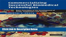 [Best] Commercializing Successful Biomedical Technologies: Basic Principles for the Development of