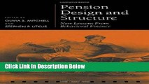 [Fresh] Pension Design and Structure: New Lessons from Behavioral Finance (Pension Research