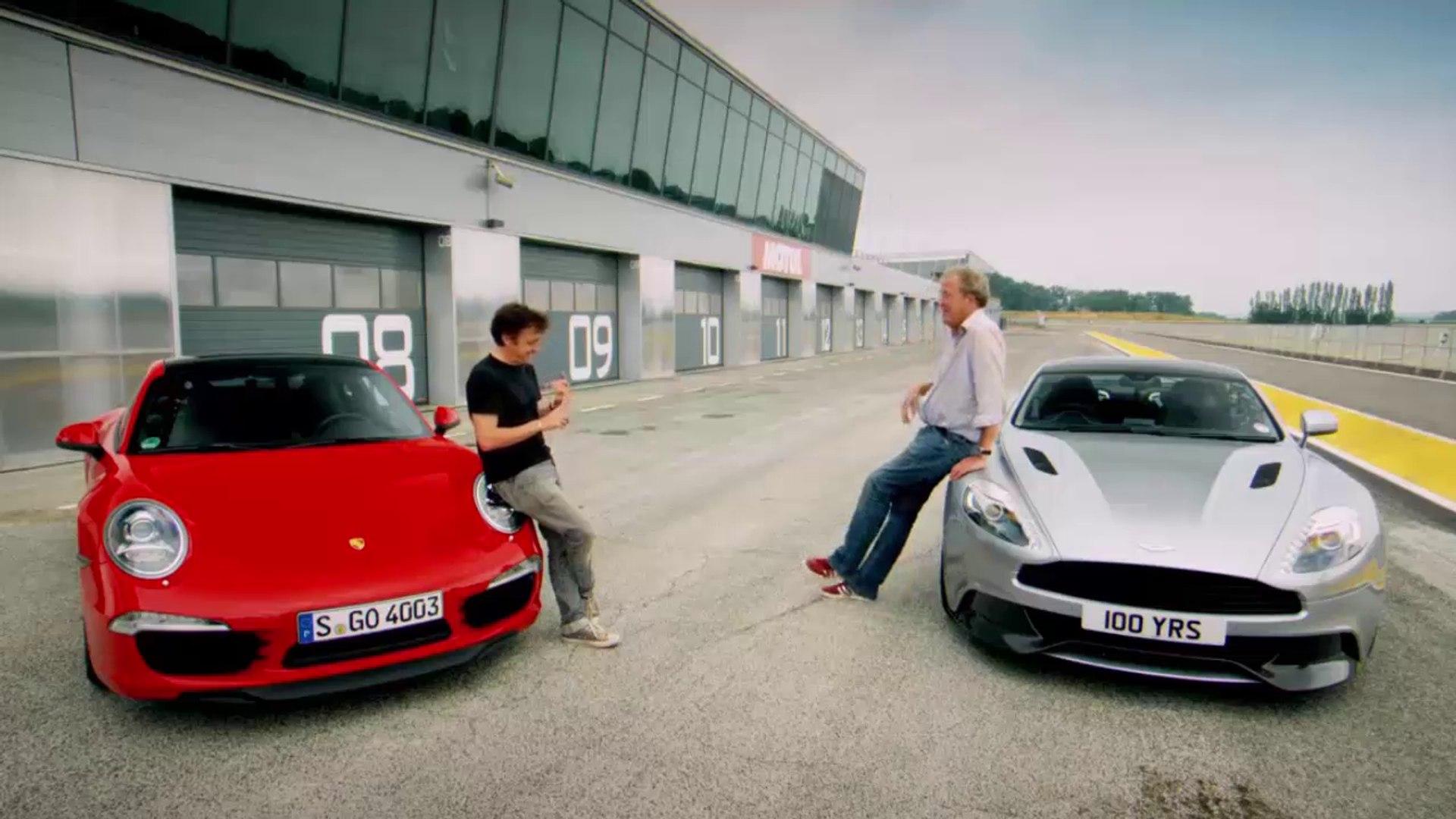 Porsche 911 Carrera S Vs Aston Martin Vanquish Top Gear Bbc Video Dailymotion