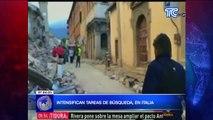 Intensifican tareas de búsqueda en Italia