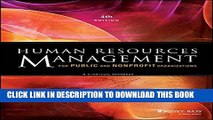 Collection Book Human Resources Management for Public and Nonprofit Organizations: A Strategic