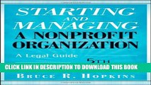 Collection Book Starting and Managing a Nonprofit Organization: A Legal Guide