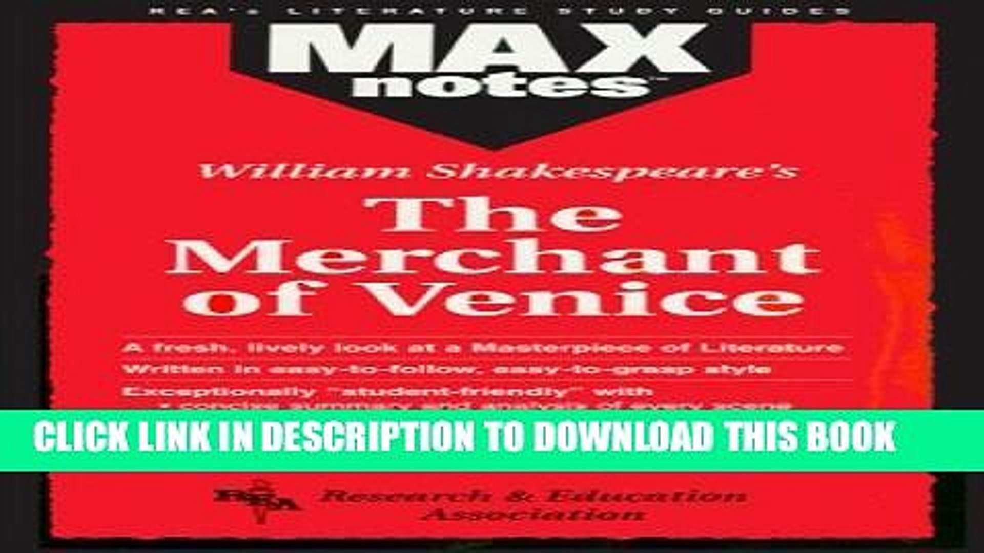 Collection Book Merchant of Venice, The  (MAXNotes Literature Guides)