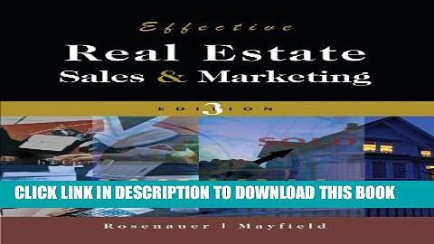 [Download] Effective Real Estate Sales And Marketing Hardcover Online