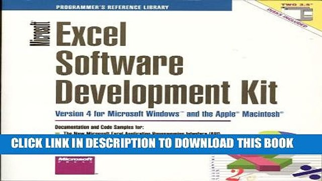 Collection Book Microsoft Excel Software Development Kit: Version 4 for Microsoft Windows and the