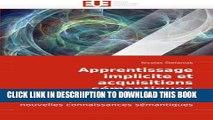 [PDF] Apprentissage implicite et acquisitions sémantiques: Rôle des mécanismes d?apprentissage