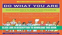 Collection Book Do What You Are: Discover the Perfect Career for You Through the Secrets of
