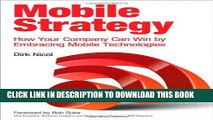 New Book Mobile Strategy: How Your Company Can Win by Embracing Mobile Technologies