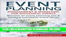 New Book Event Planning: Management   Marketing For Successful Events: Become an event planning
