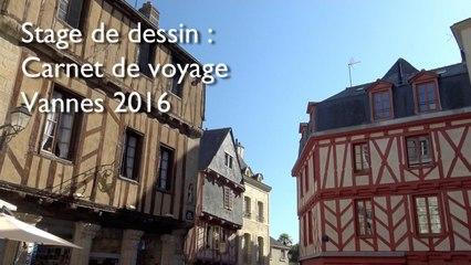 Stage de dessin carnet de voyage à Vannes - Bretagne
