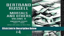 [Get] Mortals and Others, Volume II: American Essays 1931-1935 (Mortals   Others) Online New