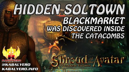Discovered The Hidden Soltown Blackmarket ★ Shroud of the Avatar Pre-Alpha Release 32 Gameplay 2016